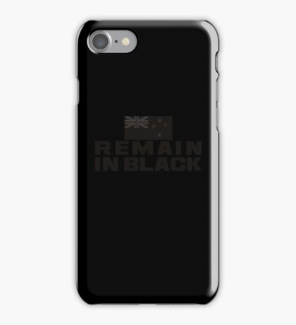 REMAIN IN BLACK iPhone Case/Skin