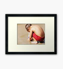 Ingenuity from the mind of a boy Framed Print