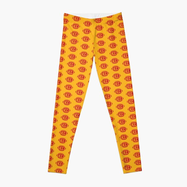 KC Retro Football - Yellow Leggings