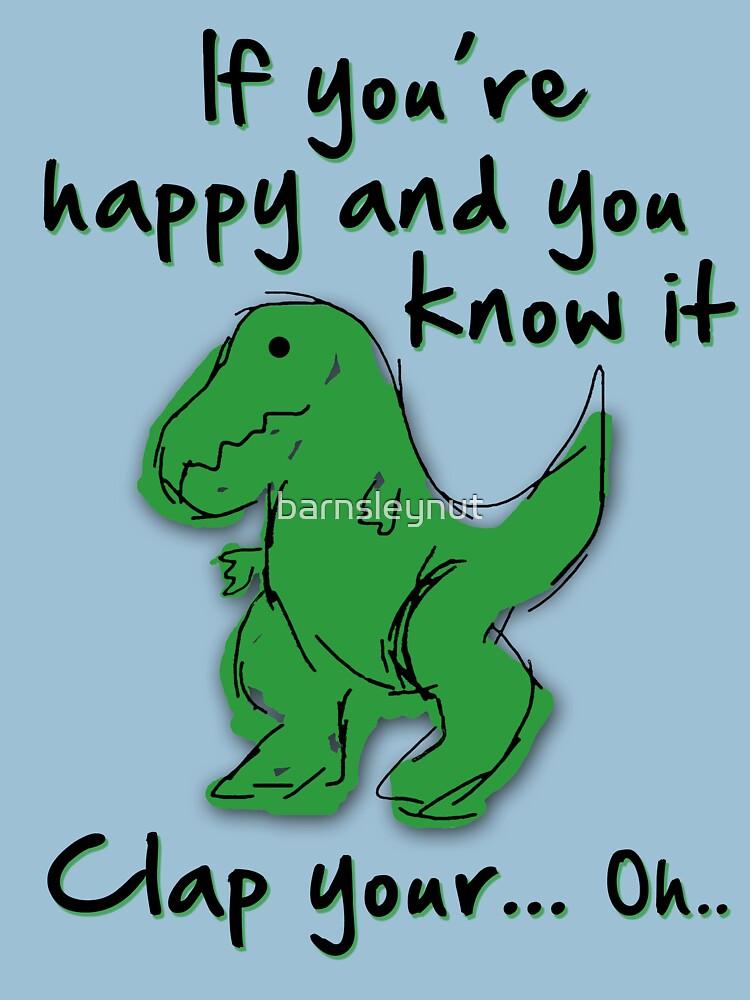 A Happy Dinosaur? Black Text by barnsleynut