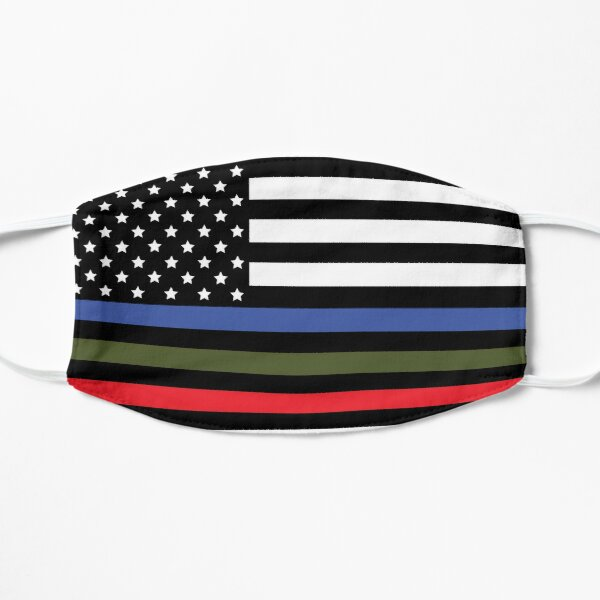 Police, Military and Fire Flag Flat Mask