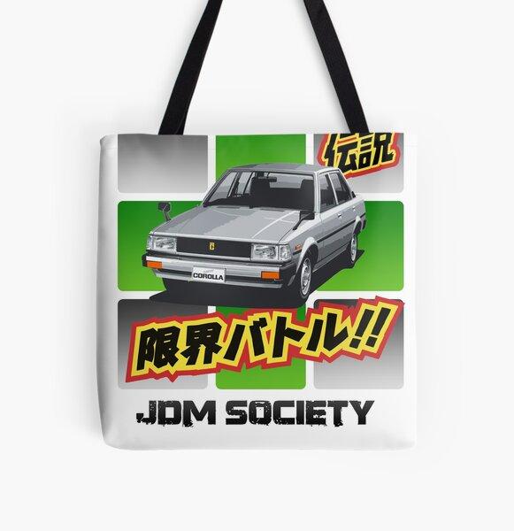 Toyota E70 Corolla DX Sedan All Over Print Tote Bag