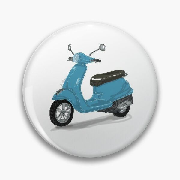 Blaue Vespa Button