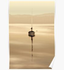 dreamy misty windermere morning Poster