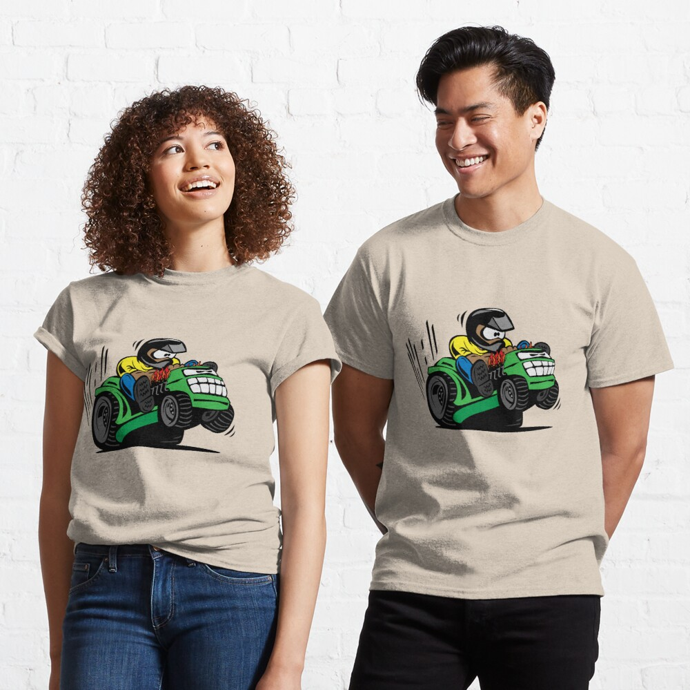Cartoon Riding Lawnmower Tractor Classic T-Shirt