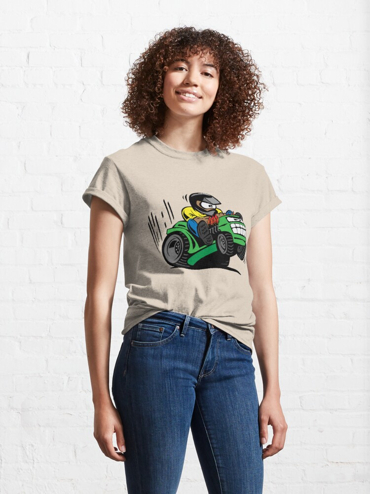 Alternate view of Cartoon Riding Lawnmower Tractor Classic T-Shirt