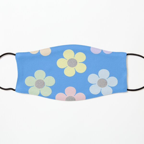 pastel glitter flowers Kids Mask