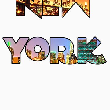 New York Skyline Lettering by jhonny27