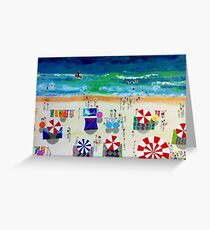 Riding the Waves by Stephanie Burns Greeting Card