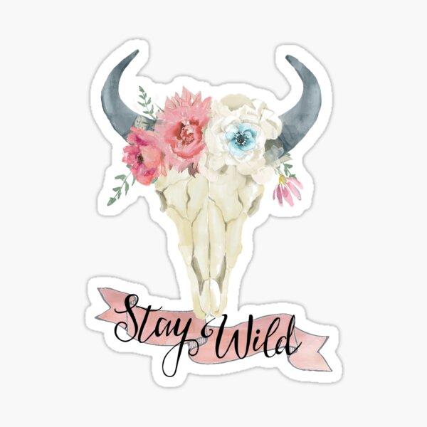 Stay Wild Boho Steer Sticker