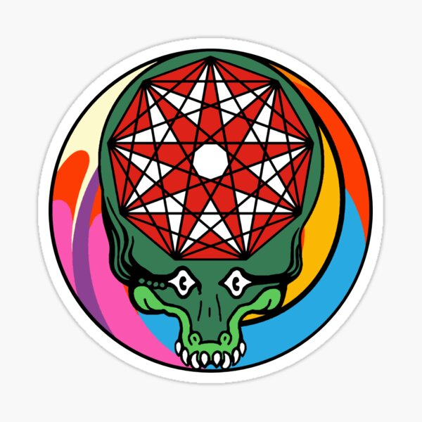 King Gizzard GIZZHEAD STEALIE - HEAD ON / PILL - All proceeds to charity Sticker