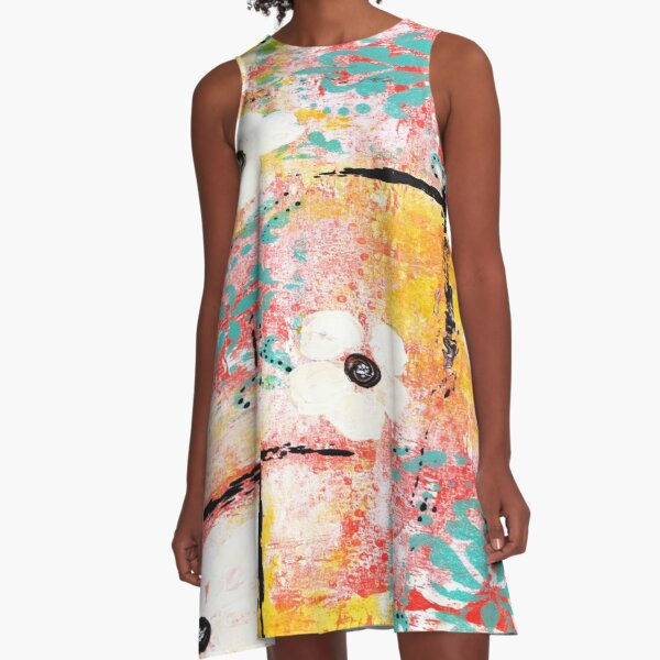 SUNSHINE AND DAISIES  A-Line Dress