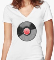 Vinyl Record 2 Worn Well (please see notes) Women's Fitted V-Neck T-Shirt