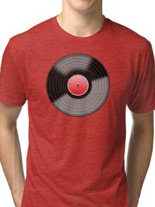 Vinyl Record 2 Worn Well (please see notes) Tri-blend T-Shirt