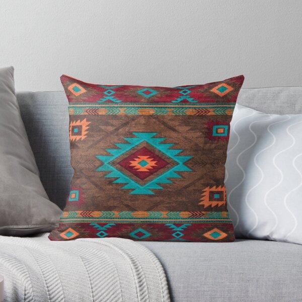 Farmhouse Vintage Traditional Southwest Style Design Throw Pillow