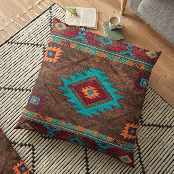 Farmhouse Vintage Traditional Southwest Style Design Floor Pillow