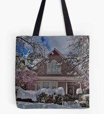 Mauve In The Snow Tote Bag