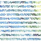 Digits of Pi (Green & Blue) by funmaths