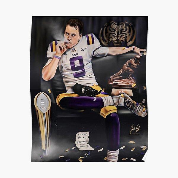 joe burrow smoking cigar painting  Poster