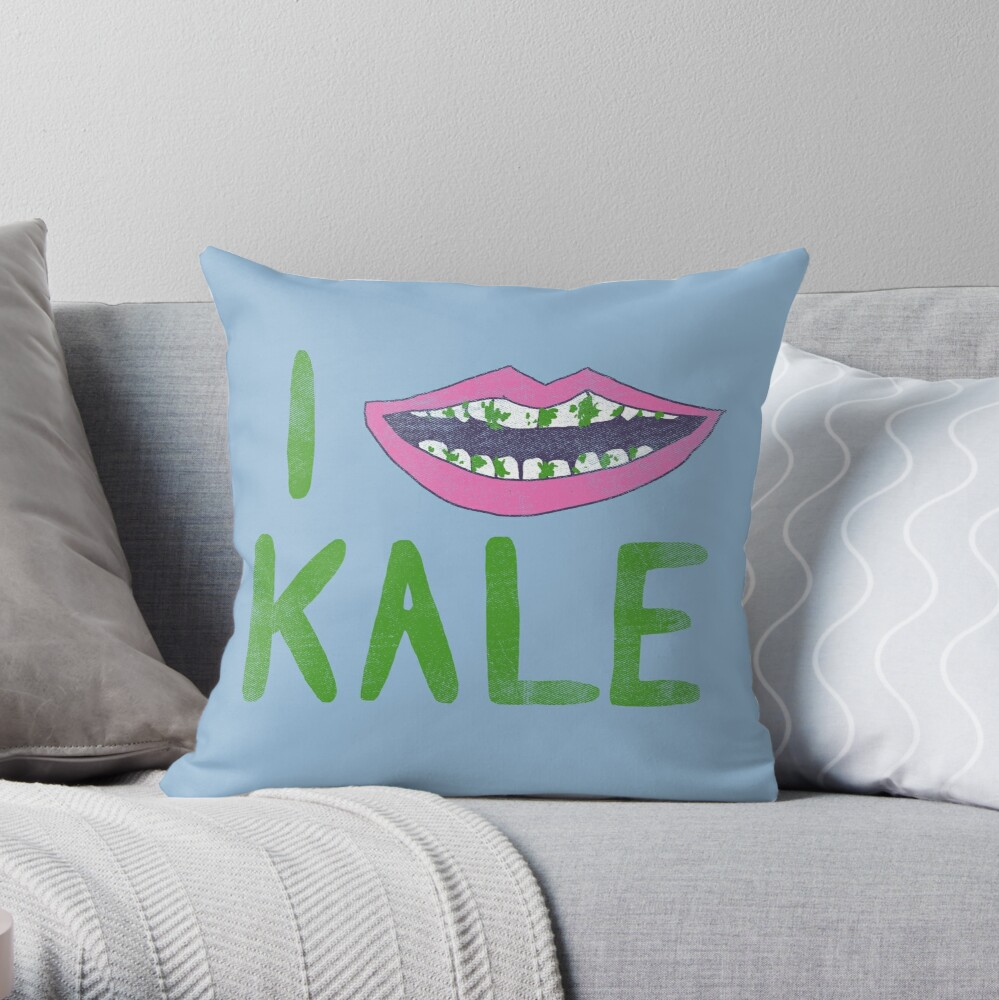 I Heart Kale Throw Pillow
