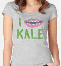 I Heart Kale Women's Fitted Scoop T-Shirt
