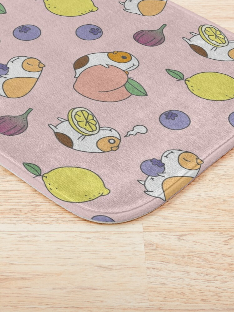 """""""Guinea pigs with fruits pattern"""" Bath Mat by Miri ..."""