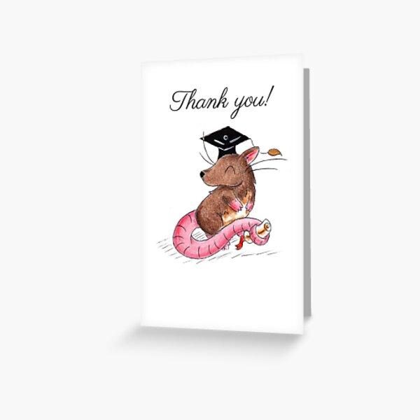 GraduRat (Thank You Card) Greeting Card
