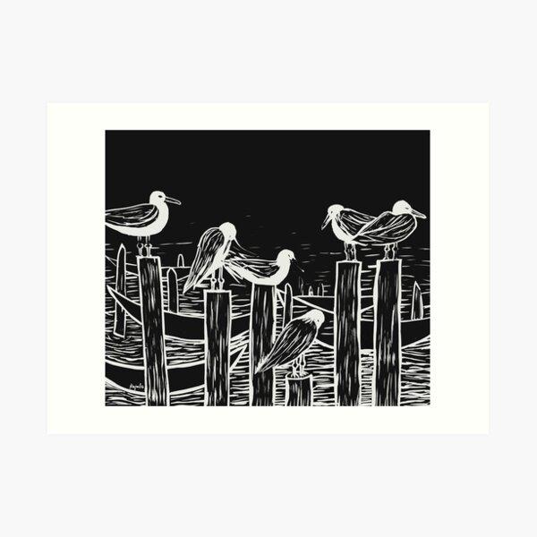 Venice Gulls Art Print