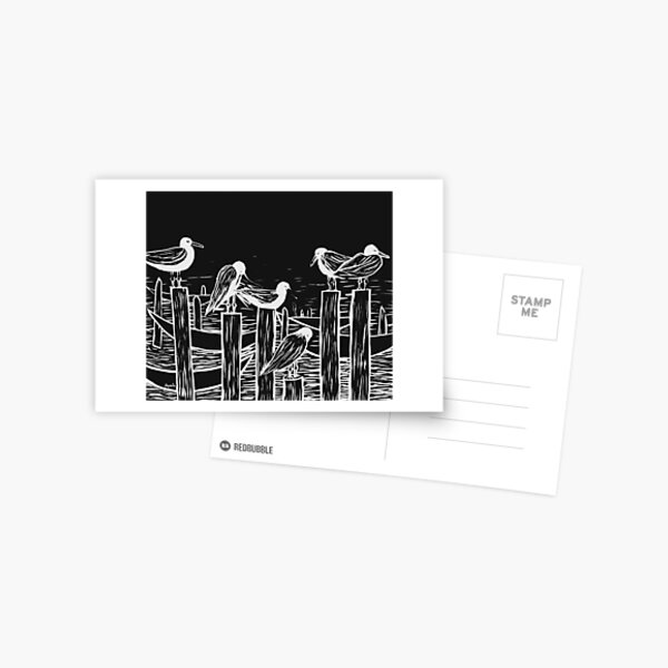Venice Gulls Postcard