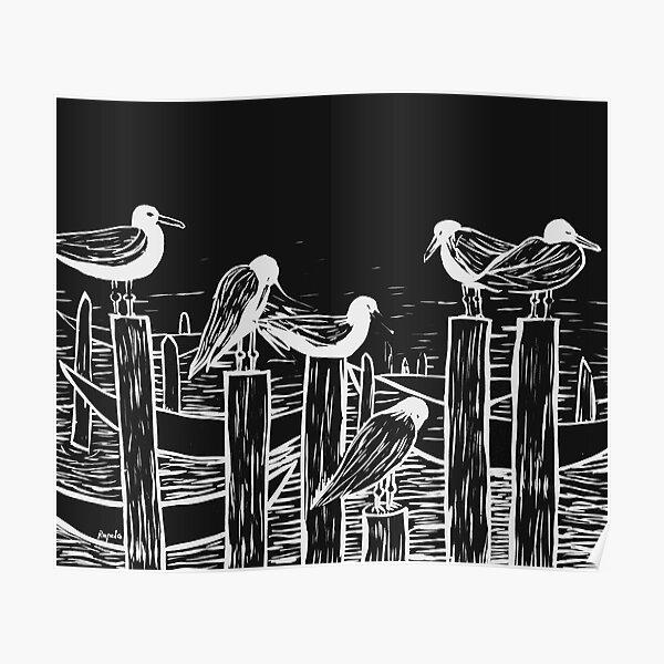 Venice Gulls Poster