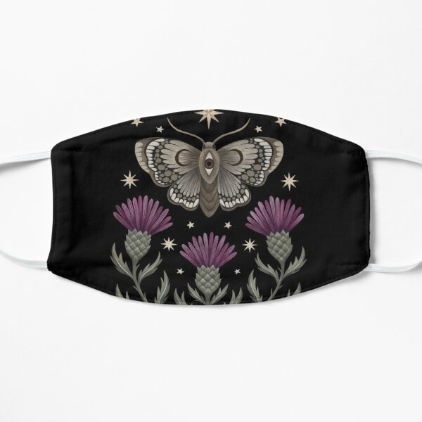 Thistle and moth Flat Mask