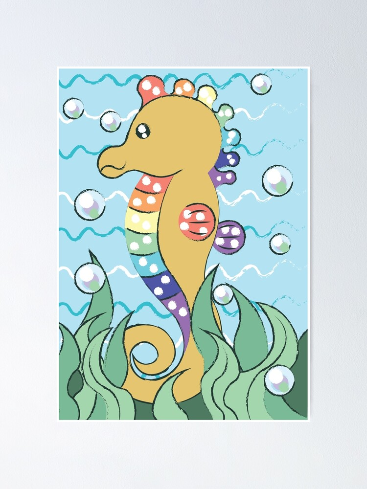 Alternate view of Seahorse Poster
