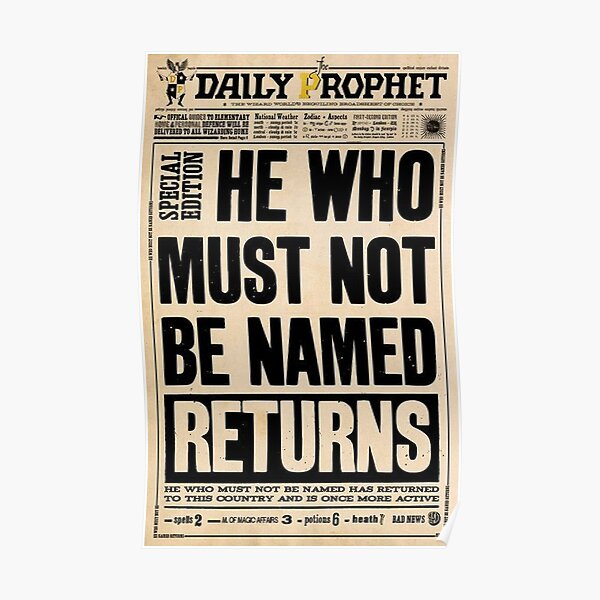 he who must not be named  Poster