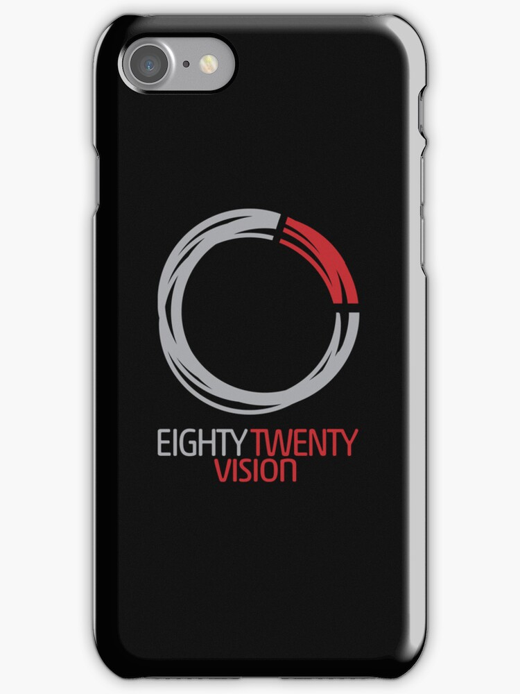 8020 Circle iPhone Case (Black) by 8020Vision