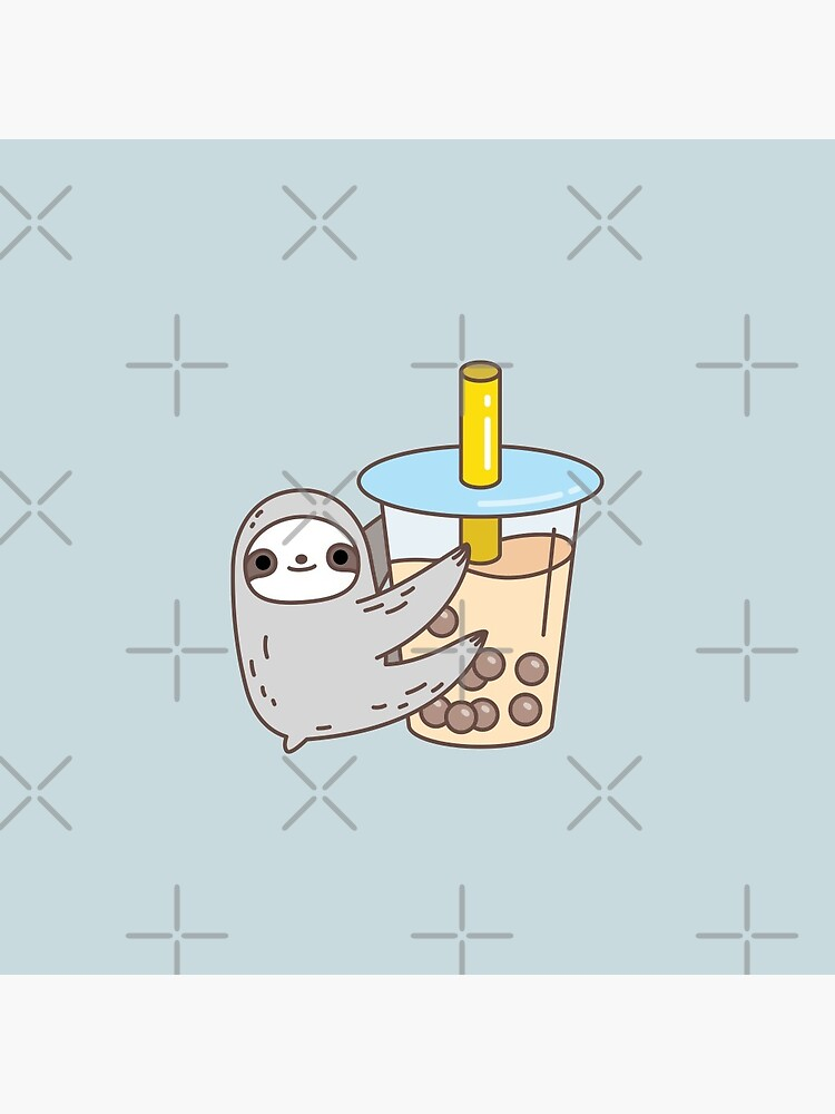 Sloth Loves Bubble Tea by Miri-Noristudio