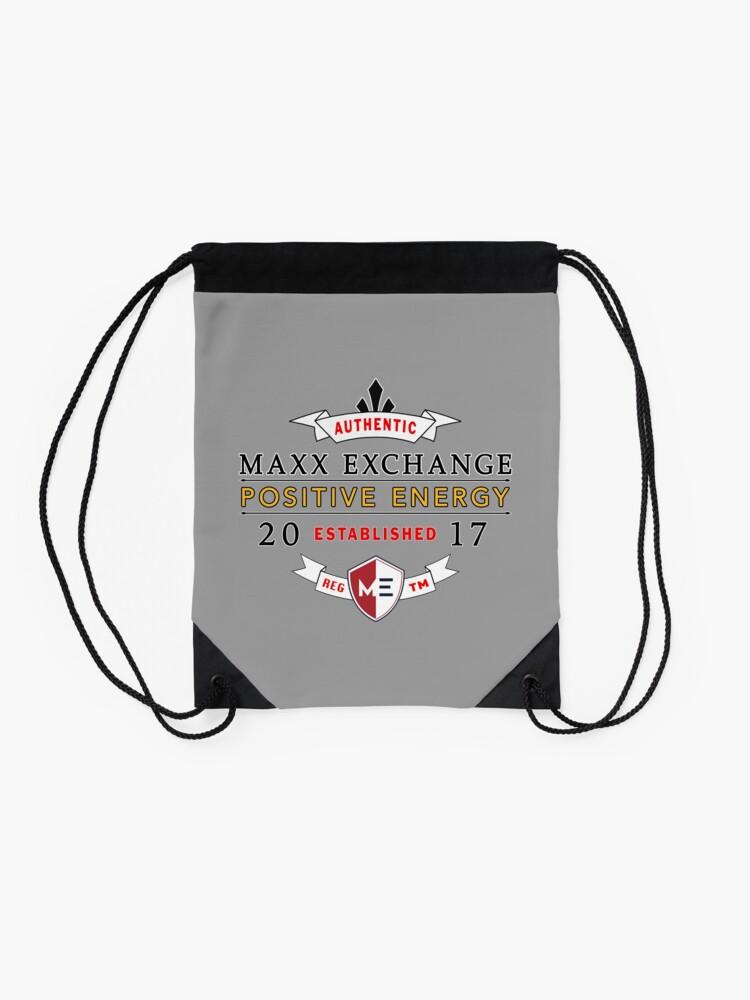 Alternate view of Maxx Exchange Positive Energy Smile Spiritual Motivation. Drawstring Bag