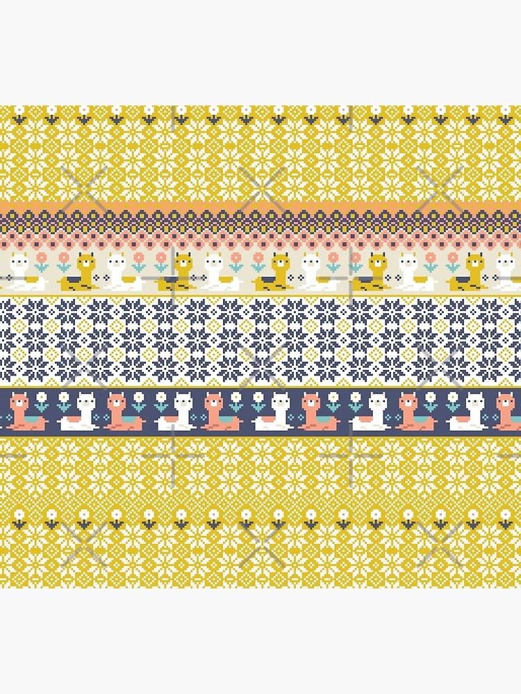 Alpaca Christmas Sweater Pattern  by Miri-Noristudio