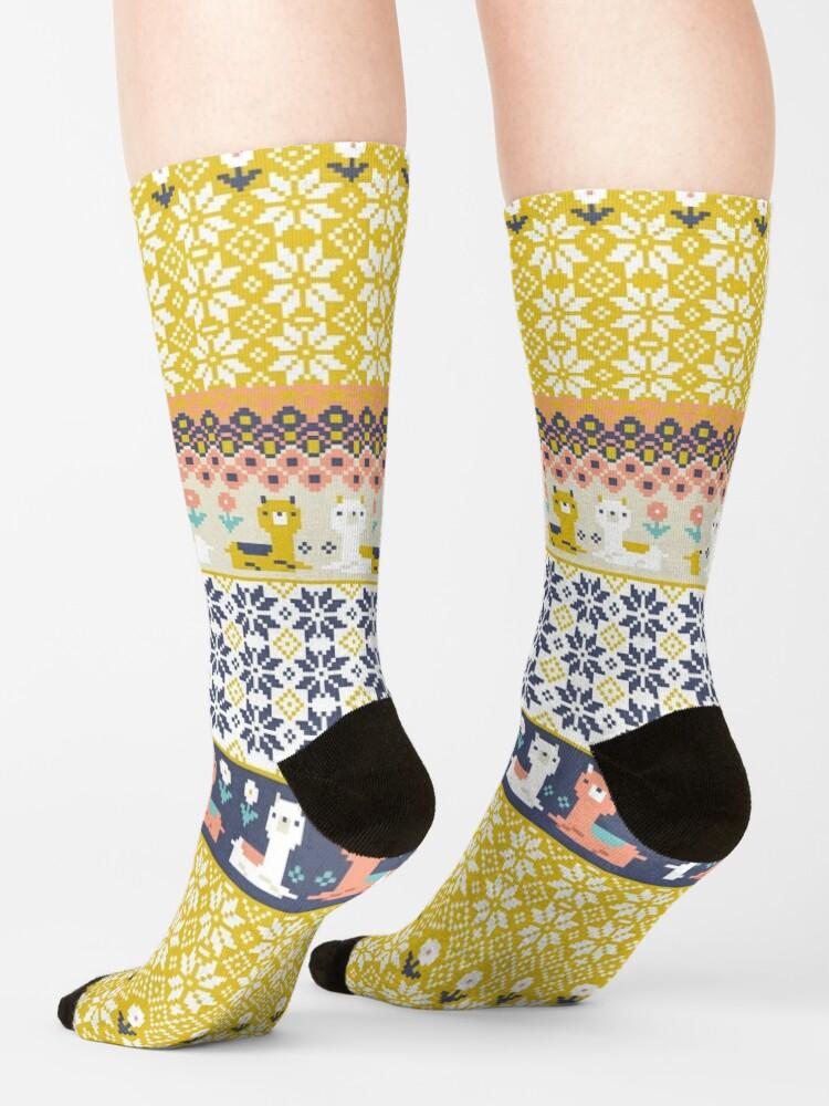 Alternate view of Alpaca Christmas Sweater Pattern  Socks