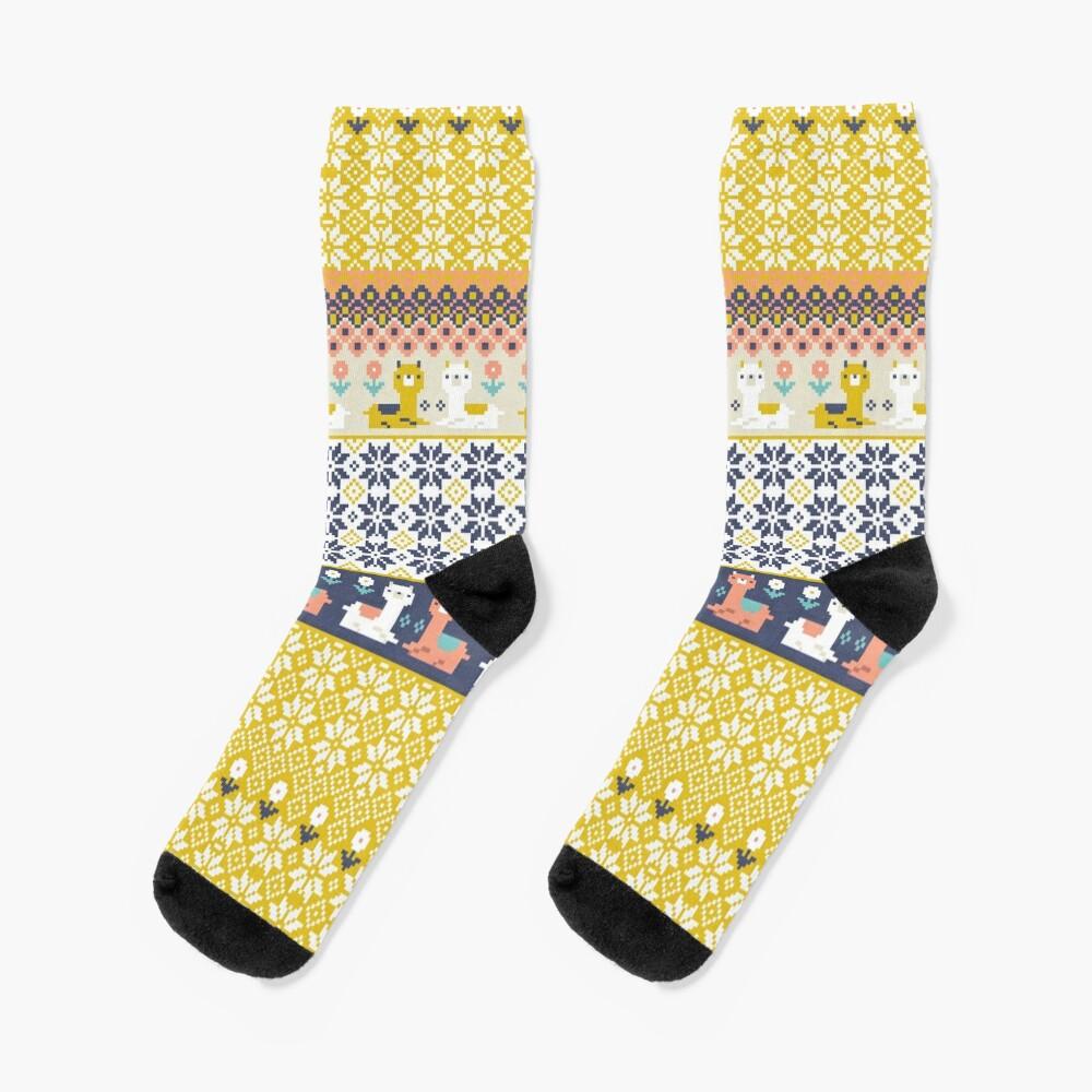 Alpaca Christmas Sweater Pattern  Socks