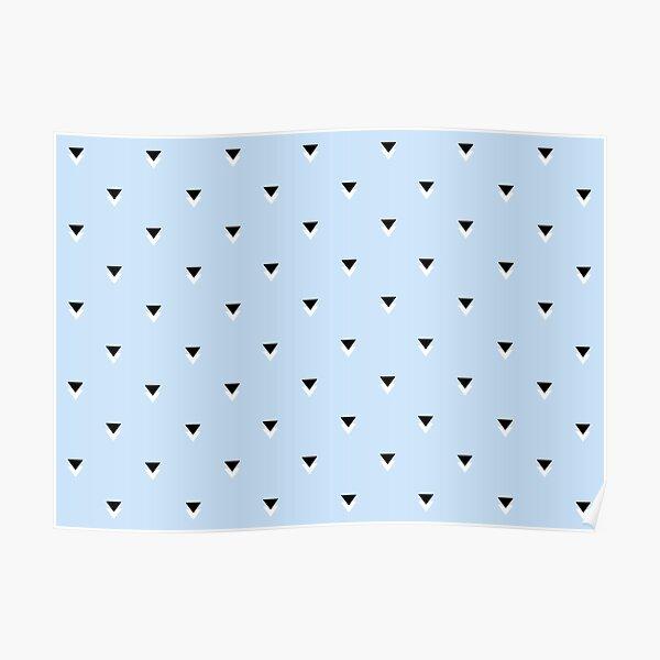 Blue Geometric Triangle Pattern  Poster