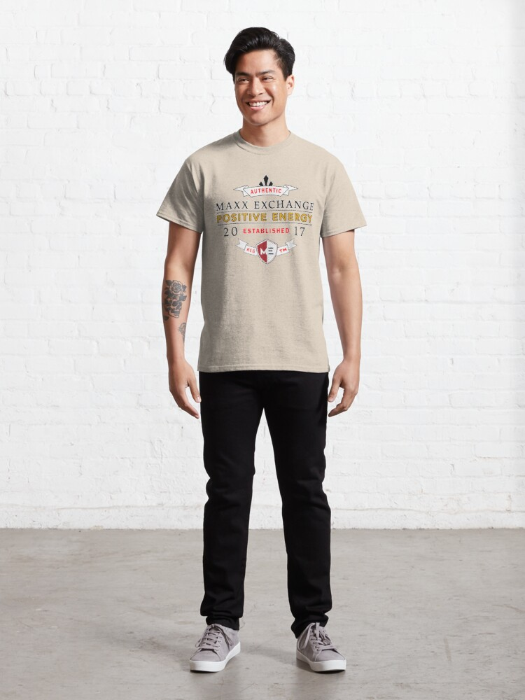 Alternate view of Maxx Exchange Positive Energy Smile Spiritual Motivation. Classic T-Shirt