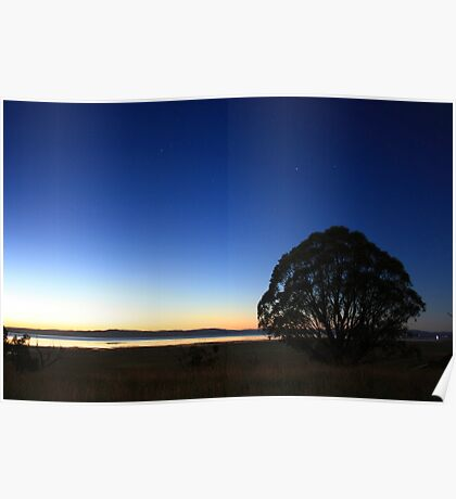 First Light over Lake George, NSW Poster