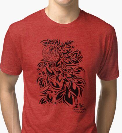 Peacock #4 Tri-blend T-Shirt