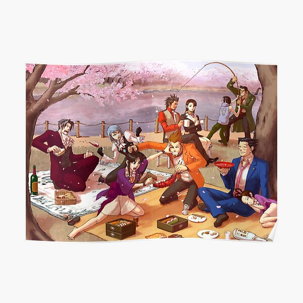 Ace Attorney Picnic Poster
