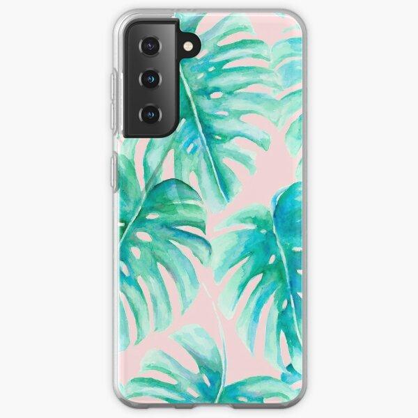 Paradise Palms Blush Samsung Galaxy Soft Case