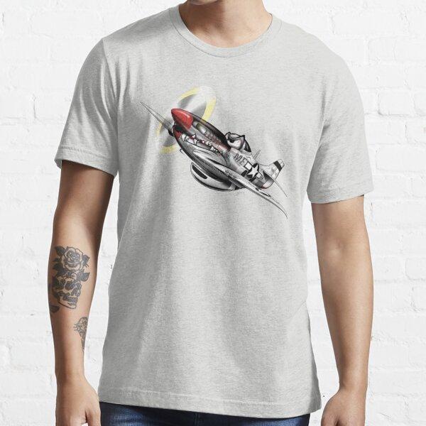 WW-II Warbird P-51 Mustang Airplane Cartoon Essential T-Shirt