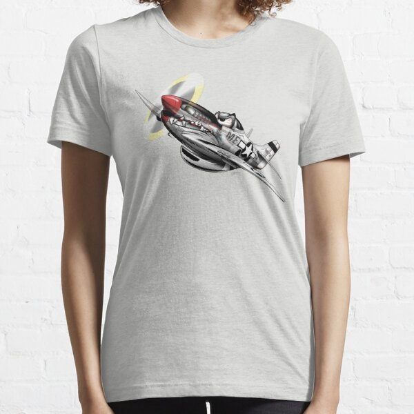 WW-II Warbird P-51 Mustang Airplane Cartoon Essential T-Shirt