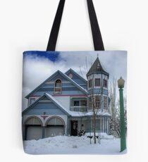 Victorian Blues Tote Bag