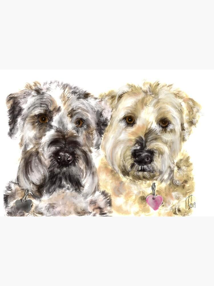 Wheaton Terrier Best Friends  by LITDigitalArt