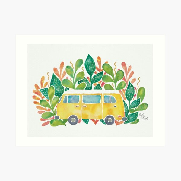 Travel Watercolour Illustration Art Print